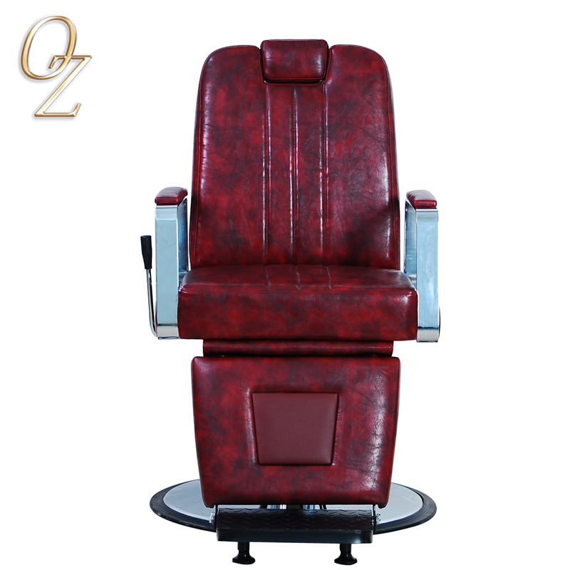 Australian Standard Barber Salon Chair Red Hair Styling Chairs With Footrest Wholesale Barbershop Equipment
