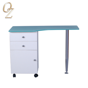 Modern design manicure bar nail table metal manicure table nail polish table