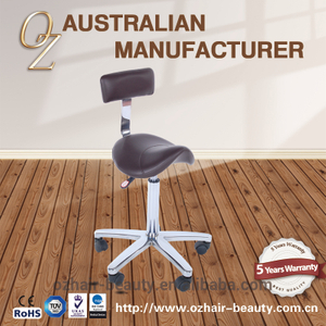 Styling Salon Master Stool High Quality Saddle chair Modern Fabric Salon Stool