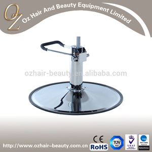 Hydraulic Styling Chair Base Stainless Steel Round Base with Hydraulic Pump