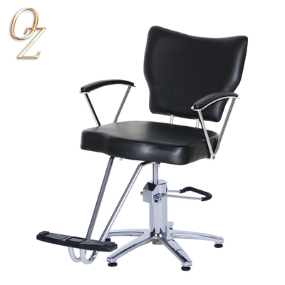 Vintage PVC Leather Hair Cut Chair With Footrest European Standard Barber Salon Chairs Beauty shop Equipment Manufacturer