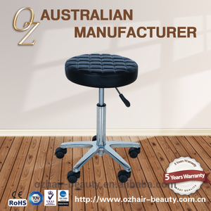 Clinic Dental Stool Black Salon Equipment Hairstylist Cutting Stool With Star Base