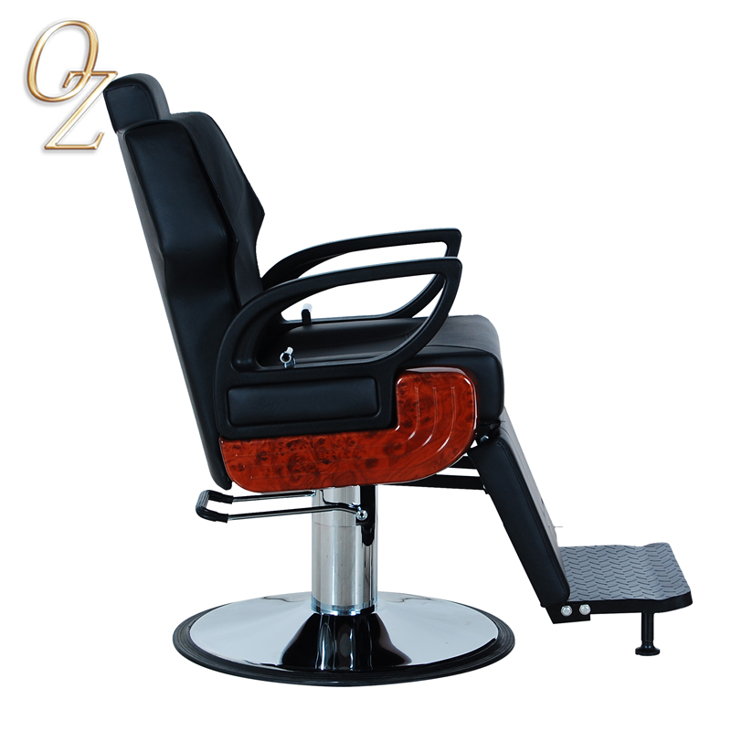Salon Chair With Footrest Hairdressing Chairs Quality Leather Barber Chair
