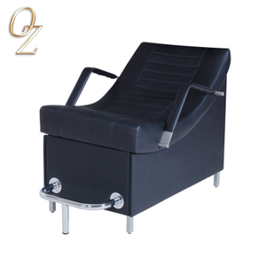 Good Quality Leather Black Hair Wash Chair Shampoo Unit Chair Salon Hair Beauty Bed