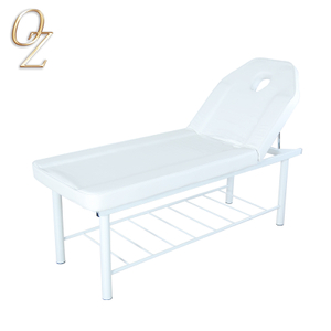 US Standard Real Leather Massage Bed Reclining Facial Table Beauty Chair Factory