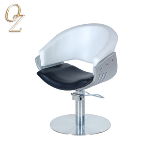 Durable Salon Furniture Australian Standard White Hair Cut Chair PVC Vinyl Client Chairs For Sale