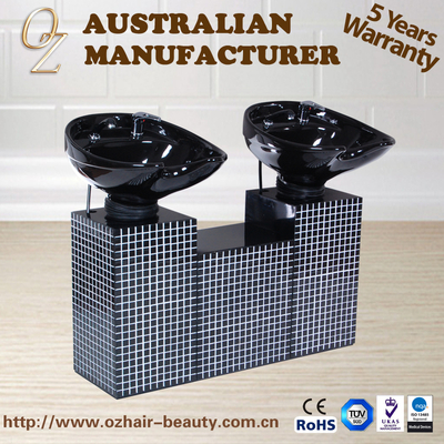New Style Double Shampoo Chair Ceramic Basin For Hair Washing Double Shampoo Unit