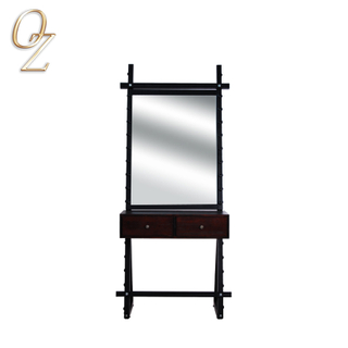 Antique Style Mirror Station Movable Mirror Station Hairdressing Salon Styling Stations