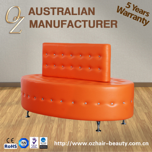 Modern Public Sofa Salon Furniture Hair Salon Reception Chair Lounges Salon Reception Area Waiting Bench