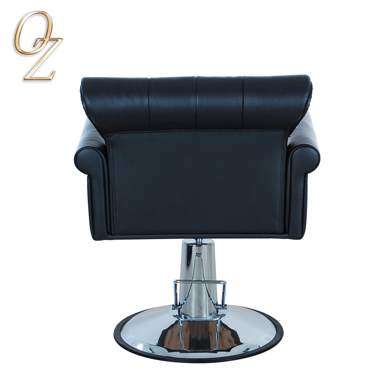Heavy Duty Professional Hydraulic and Reclining Hair Salon Chair With Footrest Elegant Haircut Chair Beauty Equipment