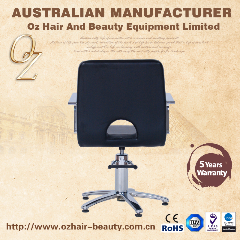 Elegant Style Hydraulic Salon Beauty Barber Chair Styling Hairdressing With Five Star Base
