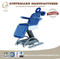 Powerful Electric Blue Examination Table Hospital Equipment Treatment Bed With Swing Armrest Professional Patient Couch
