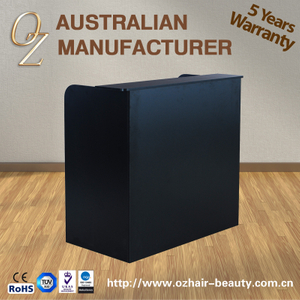 Australian Manufacturer Black Easy Cleaning Front Office Desk Design Reception Desk Salon Counter
