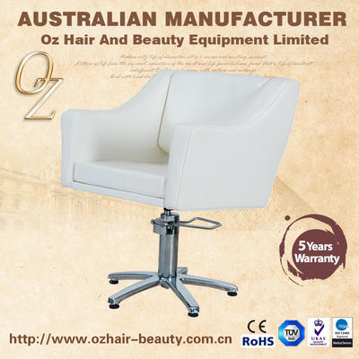 Quality Assurance Haircut Chair For Beauty Salon White Salon Beauty Chair Hydraulic Salon Chair