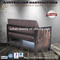 PVC Leather Hair Salon Furniture Loft Style Waiting Room Sofa Wholesale