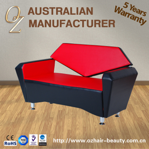 Fashion Waiting Sofa Barber Salon Waiting Chairs 3seater Public Waiting Chair