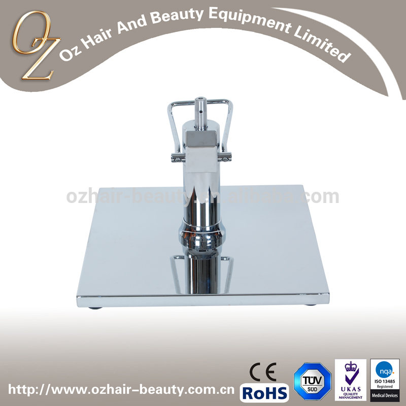 Stainless Steel Square Base with Hydraulic Pump Salon Chair Base
