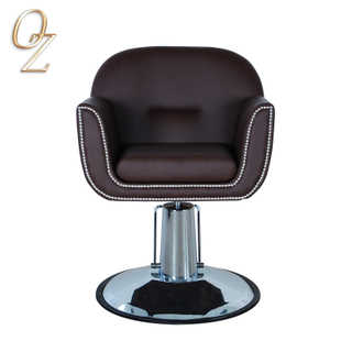 Good Quality US Standard Hairdressing Chair Professional Real Leather Barber Salon Chairs Beauty shop Equipment Manufacturer