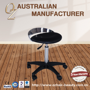 Modern Salon Master Chair Leather Salon Stool Adjustable Saddle Stool