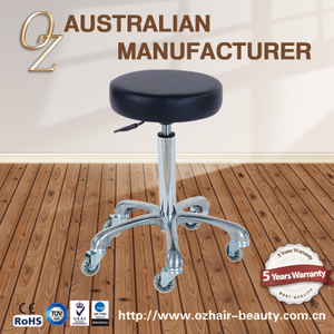 Round Wholesale Barber Stool Chair With Hair Free Wheels